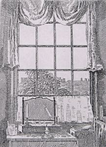 View from a bedroom window in Gunman Mansion by George Jarvis