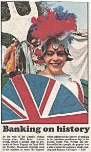 Dover Pageant 1994 - Miss Dover Jemma Irving. Dover Mercury