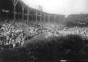Dover Pageant 1908 - a full house. Dover Museum