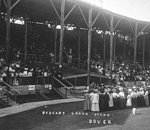 Dover Pageant 1908 grand stand. Dover Museum