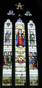 The Great East window and represents God's providence sparing Dover more suffering during World War II