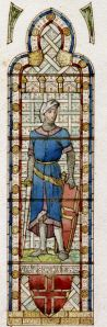 Stephen de Pencester, Lord Warden 1267-1297 from a design for a window in Connaught hall by H W Lonsdale 1892 - Dover Museum