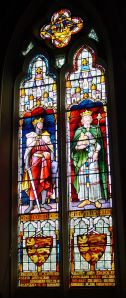 William Adcock window, former Council Chamber, Maison Dieu depicting King John and Henry III.