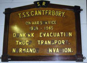 Canterbury - War Service. York Rail Museum