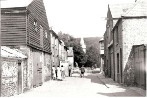 Former Caroline Place where Stembrook car park is today. Dover Library