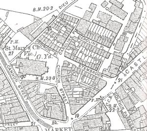 Caroline Place, named after Dover's 'Queen' - Map 1907