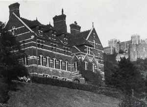 Castlemount built by William Adcock destroyed by fire 1973. Dover Library