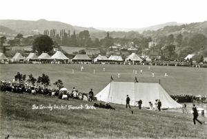 Crabble Athletic Cricket Ground pre-World War I. Dover Museum