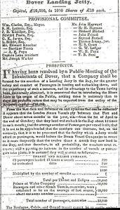Dover Landing Jetty prospectus 02.03.1844