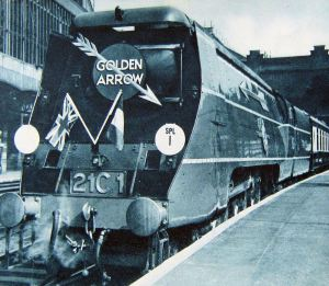 Golden Arrow - the Oliver Bulleid's Merchant Navy Class 4-6-2, c 1947
