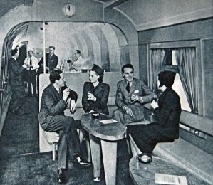 Golden Arrow - post-war publicity shot of the 'Trianon' cocktail bar