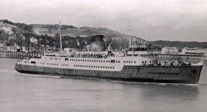 Invicta, the first ship to use the western entrance after it was opened on 26 April 1963. Alan Sencicle collection