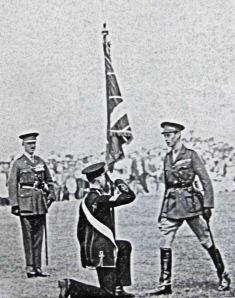 Presentation of colours by George Duke of York (later George VI) 30.07.1924