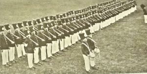 Duke of York's pupils in their pre-War 'Toy Soldiers' Display. Duke of York's School