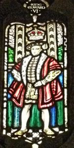 Edward VI ruled 1547-1553. Worcester Cathedral Cloisters