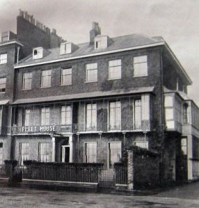Fleet House, Marine Parade. HQ of the Admiral of the Fleet during World War I - Dover Library