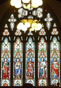 Kingsford Window above the main entrance into the Stone Hall