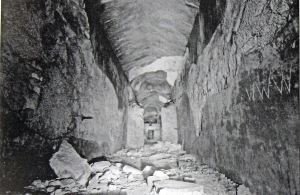 Oil Mill Caves, Limekiln Street from Derek Leach's Tunnel and Caves p89, Riverdale Press.