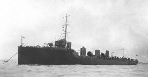 Destroyer Zulu commissioned March 1910