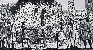 Burning of Protestant martyrs 1555 Canterbury. Canterbury Library