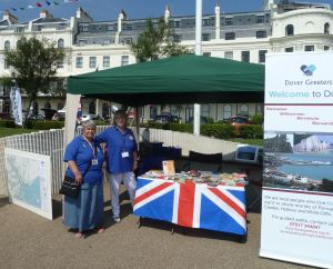 Dover Greeters Denise Smith and Mary Griffin - Dover Regatta 2014