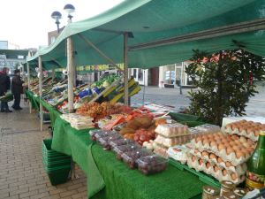 Dunfords Fruit & Vegatable stall Market Square 2014