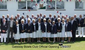 Gateway Bowls Club official opening 3 August 2007. Gateway Bowling Club
