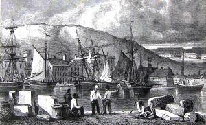 Dover harbour circa 1800