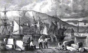 Dover Harbour c1800. LS