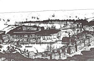 Dover Harbour and the Pier District circa 1830 by Lynn Candace Sencicle