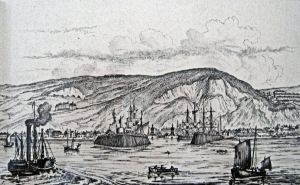 Harbour Entrance Dover by William Heath published 1836 by Rigden with steam ships. Harbour House LS 2010