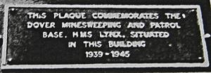 HMS Lynx Minesweeping & Patrol Base St James Lane plaque unveiled June 1984