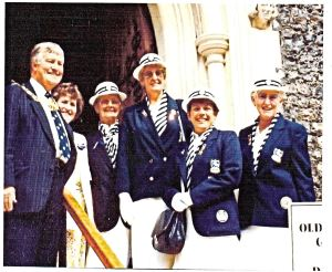 Ladies of Kearsney in 1992 left to right: Mayor Bill Newman & wife Jean, Joan Heath, Ann Harrison - Lead, Rita Vane and Ann Smith - Captain. Kearsney Bowling Club