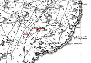 West Cliffe and Solton underlined in red