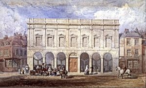 The new Market Hall with Museum above 1846. Dover Museum