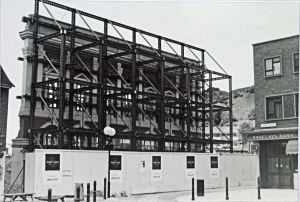 The listed Market Hall facade during reconstruction in 1989. Dover Library