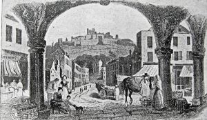 Looking down Castle Street from the Market place c 1830