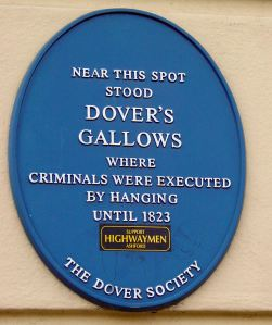 Plaque erected by the Dover Society on the Eagle Hotel, Tower Hamlets opposite to where the gallows once stood.