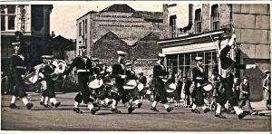 Sea Cadets Market Square c 1947-8. Courtesy of TS Lynx.