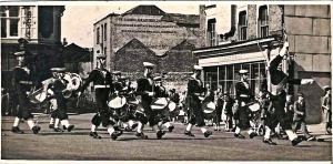 Sea Cadets Market Square c 1947-8. Courtesy of TS Lynx.
