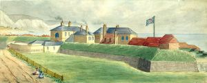 Archcliffe Fort by Samuel Joseph Mackie c 1840s - Dover Museum