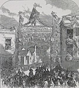 Castle Street, Welcoming Volunteers to the Review - Illustrated London News 04.05.1867. Dover Library