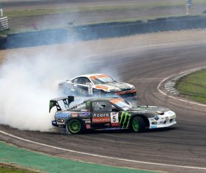Drift racing at Lydden Hill Race Circuit