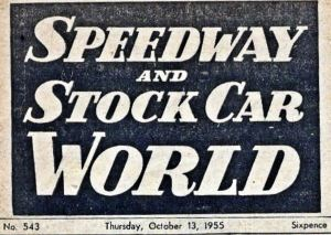 Speedway and Stock Car World that featured Lydden Race Track, 1955.