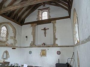 St Edmund's Chapel interior. LS