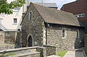 St Edmund's Chapel,  Priory Road, dedicated by one Saint to another Saint. Alan Sencicle