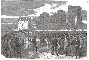 Church Service at the Castle. Illustrated London News 10.04.1869. Dover Library