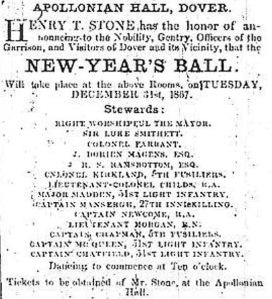 Apollonian Hall New Years Eve Ball organised by Henry Stone - December 1867