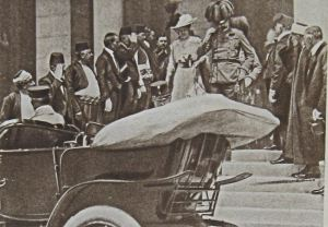 Archduke Ferdinand & wife just before assassination at Sarajavo 28 June 1914 - Robinson Collection
