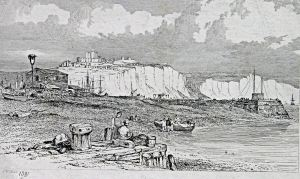 The Bason 1831 - Showing the silting problems. Dover Library
